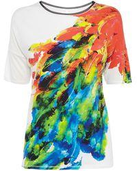 Karen Millen Feather Print Tshirt multicolor - Lyst