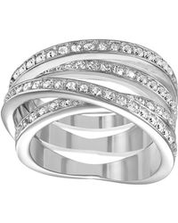 Swarovski Spiral Crystal And Silver-Tone Ring Size 8 - Lyst