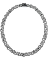 John Hardy Black Sapphire Braided Chain Necklace - Lyst