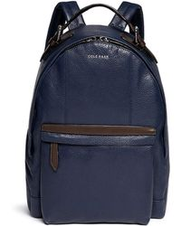 Cole Haan - 'Truman' Grainy Leather Backpack - Lyst