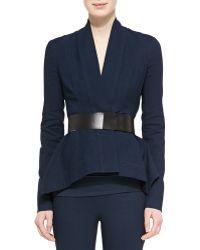 Donna Karan - 2 Leather-front Plastic Belt - Lyst