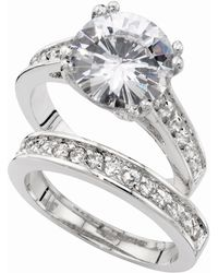 City By City | Silver-Tone Round Cubic Zirconia Engagement (7-3/8 Ct. T.W.) | Lyst
