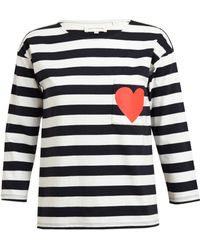 Chinti And Parker Striped Cotton Top with Heart - Lyst
