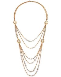 Alexis Bittar Elements Moonlight Semi-Precious Multi-Stone, Shell Pearl & Crystal Draped Station Necklace - Lyst