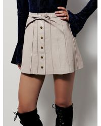 Free People | Womens Mini Mini Leather Skirt | Lyst