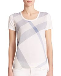 Burberry Brit Wool Check-Print Tee - Lyst