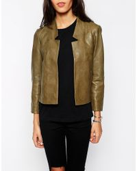 Parka London Elodie Leather Jacket - Lyst