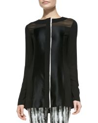 Donna Karan New York Collage Tunic W Hidden Placket - Lyst