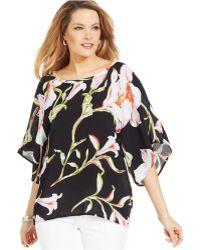 Karen Kane Midnight Floral Dolman-Sleeve Top multicolor - Lyst