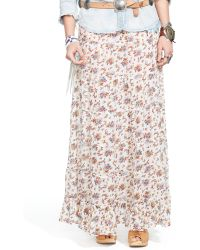Denim & Supply Ralph Lauren Floral Tiered Maxiskirt - Lyst