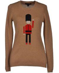 Burberry Prorsum Beige Sweater - Lyst