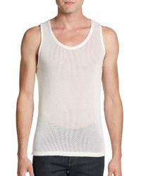 Burberry Prorsum Perforated Cashmere Tank white - Lyst