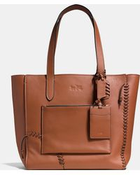 COACH   Rip And Repair Manhattan Tote In Leather   Lyst