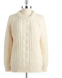 DKNY Knit Stitched Sweater - Lyst