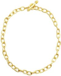 Elizabeth Locke - Volterra 19K Gold Link Necklace - Lyst
