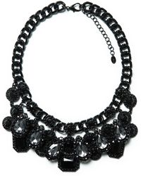 Zara Combination Gems and Chain Necklace - Lyst