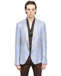 Haider Ackermann Linen & Silk Jacquard Jacket - Lyst