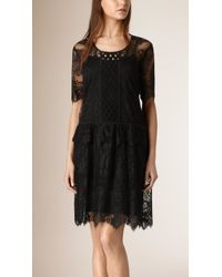 Burberry | French Lace Cut-out Dress | Lyst