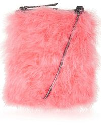 Topshop Zeb Feathered Cross-Body Bag pink - Lyst