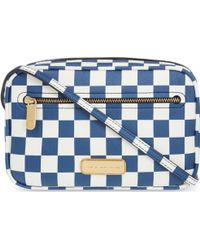 Marc By Marc Jacobs Sally Checked Saffiano Cross-body Bag - Lyst