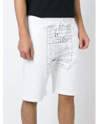 Hood By Air - Logo Print Track Shorts - Lyst