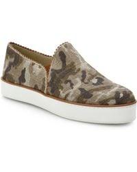 Stuart Weitzman Camo Linen Skate Shoes - Lyst