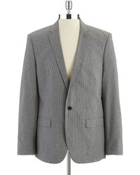 DKNY Checked Blazer - Lyst