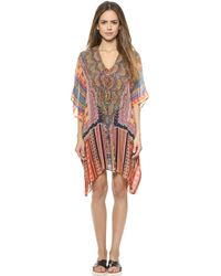 Camilla Short Lace Up Caftan - Child Of The Tribe - Lyst