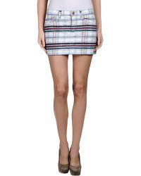 See By Chloé Multicolor Denim Skirt - Lyst