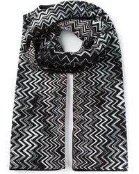 Missoni Crochet Knit Zigzag Pattern Scarf - Lyst