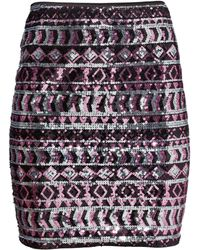 H&M Multicolor Sequined Skirt - Lyst