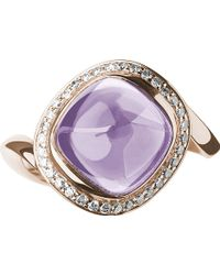 Links Of London Infinite Love Pink Amethyst 18ct Rose Gold Ring - Lyst