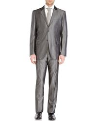 Calvin Klein Grey Two-Button Wool Suit - Lyst