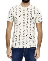 Mauro Grifoni - T-Shirt Half Sleeve With Anchor - Lyst