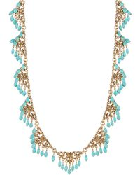 Lauren by Ralph Lauren - Turquoise Spray Collar Necklace - Lyst