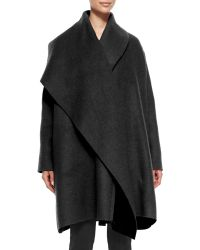 Lanvin Woolmohair Coat with Draped Lapel - Lyst