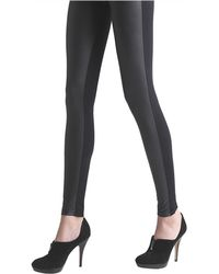 Via Spiga - Faux-Leather Front-Faced Leggings - Lyst