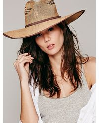 Free People Cancun Flat Brim Cowboy H - Lyst