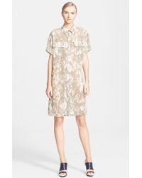Jason Wu Print Silk Chiffon Shirtdress - Lyst