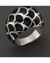 John Hardy Naga Sterling Silver Enamel Dome Ring with Black Enamel - Lyst