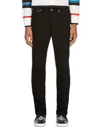 Givenchy Black Twill Star_printed Jeans - Lyst