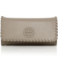 Tory Burch | Marion Leather Continental Wallet | Lyst