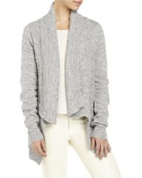English Laundry - Shawl Collar Draped Open Front Knit Cardigan - Lyst