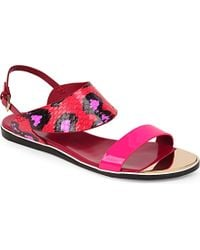 Nicholas Kirkwood Leda Flat Sandals - For Women pink - Lyst