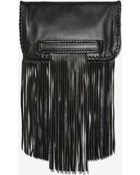 B-Low The Belt - Totem Leather Fringe Clutch - Lyst