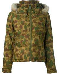 Lucien Pellat Finet - Fur-Trimmed Camouflage-Print Jacket - Lyst