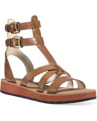 Michael Kors Michael Judie Gladiator Footbed Sandals - Lyst