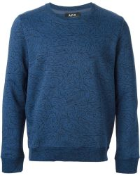 A.P.C. Algue Sweatshirt - Lyst