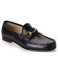 Gucci Black Horsebit Loafers black - Lyst