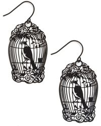 Ana Accessories Inc How The Caged Bird Swings Earrings - Lyst